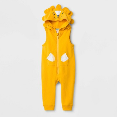 Baby Boys' Critter Romper - Cat & Jack™ Yellow 0-3M