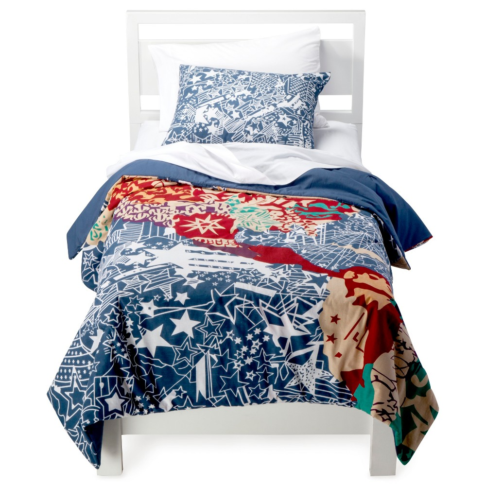 Best Rizzy Home Travel and Explore Comforter Set - Blue Red Orange (Twin)
