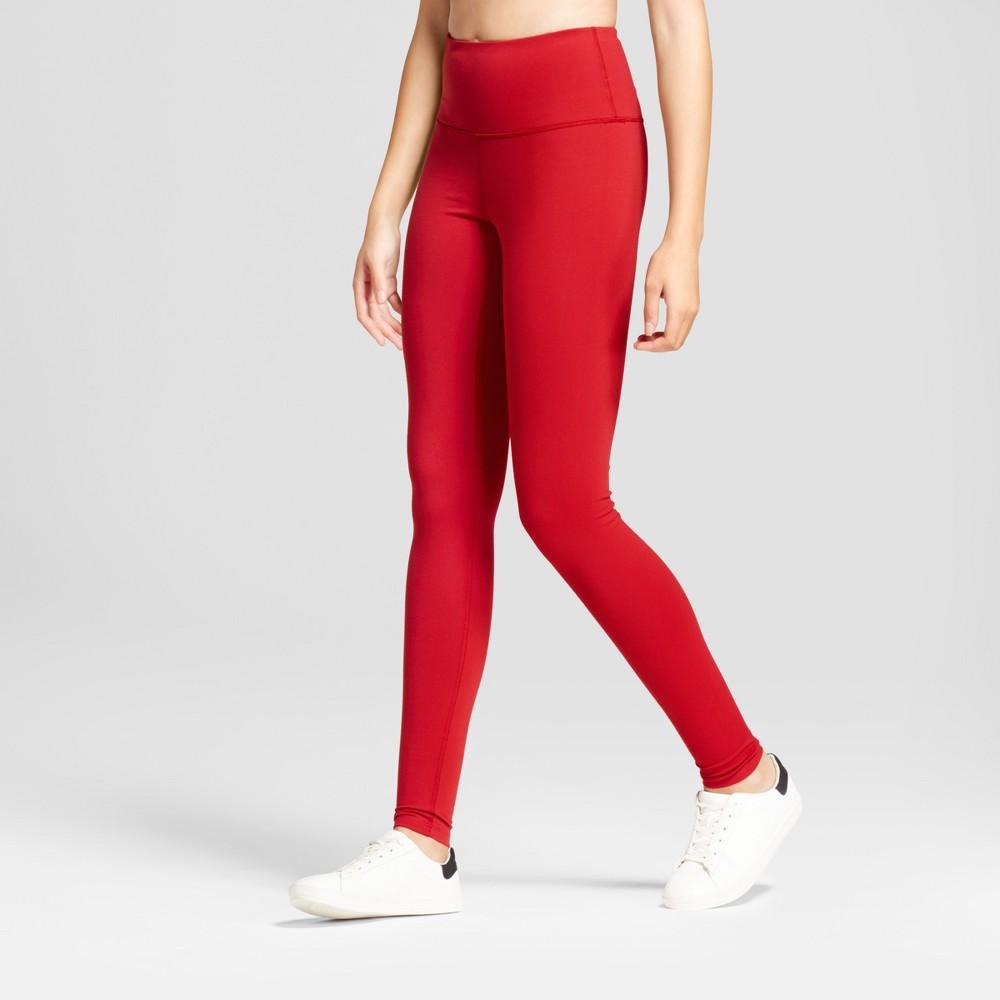 Women's Premium High Waist Long Leggings - JoyLab Crimson S, Crimson Red