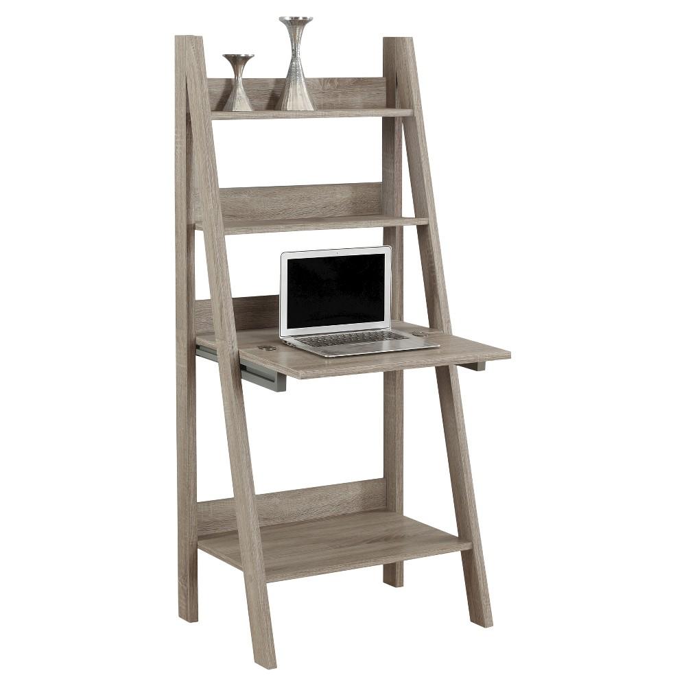 Ladder Style Computer Desk- Dark Taupe - EveryRoom