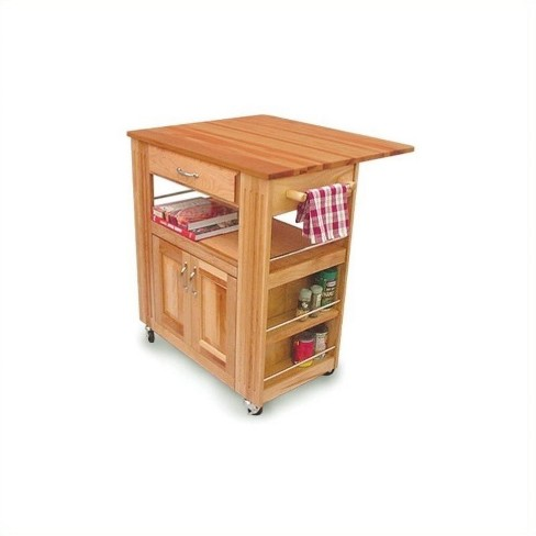 Wood Catskill Heart of the Kitchen Butcher Block Cart in Natural Brown - Catskill Craftsmen - image 1 of 1