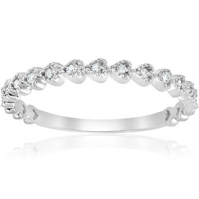 Pompeii3 Stackable Diamond Wedding Ring 14k White Gold