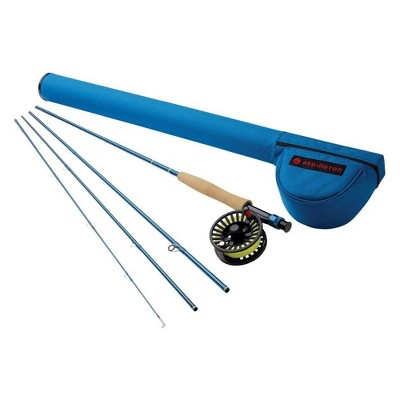 Redington 5WT 5-5025K-590-4 Fly Fishing Combo Kit 9-Foot Crosswater Outfit with Fly Reel 4 Piece, Blue
