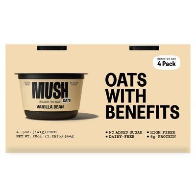 MUSH Gluten Free and Vegan Vanilla Ready-to-Eat Oats - 20oz/4ct