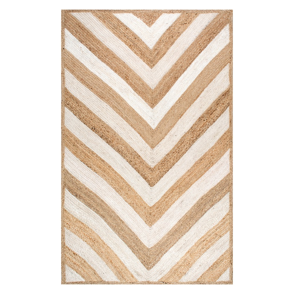 9'X12' Solid Area Rug Off-White - nuLOOM, Blue
