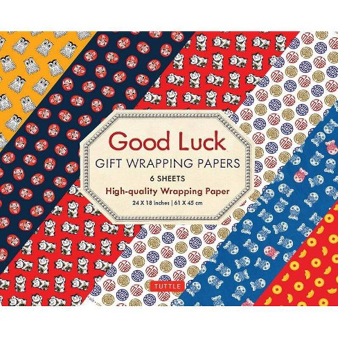 Good Luck Gift Wrapping Papers - by  Tuttle Publishing (Paperback) - image 1 of 1
