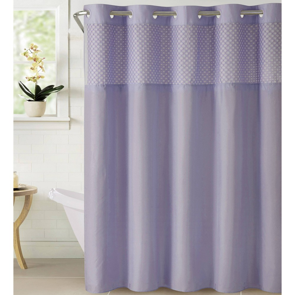 Image of Bahamas Shower Curtain with Liner Lilac - Hookless