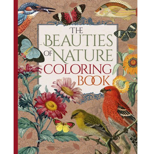 Beauties of Nature Coloring Book : 120 Stunning Pictures with Full Coloring Guides (Paperback) - image 1 of 1