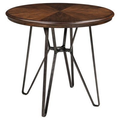 Centiar Round Dining Room Counter Table Brown - Signature Design by Ashley