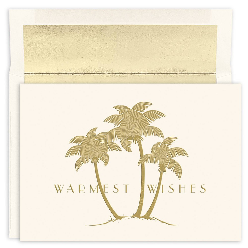 Image of 18ct Gold Palms Greeting Cards - Masterpiece Studio