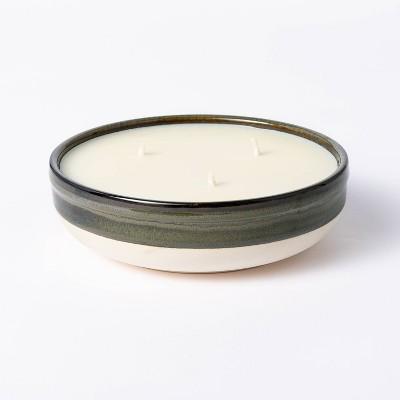 Citornella Ceramic Clay 3 Wick Candle Glossy Gray - Threshold Designed with Studio McGee™