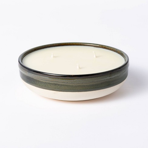 Citornella Ceramic Clay 3 Wick Candle Glossy Gray - Threshold™ designed with Studio McGee - image 1 of 4