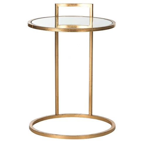 Alecto End Table Gold/Mirror - Safavieh® - image 1 of 4