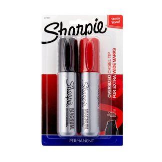 Sharpie 2pk Permanent Marker Oversized Chisel Tip Multicolor