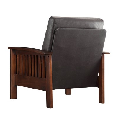 Mission Faux Chair Leather - Homelegance, Brown