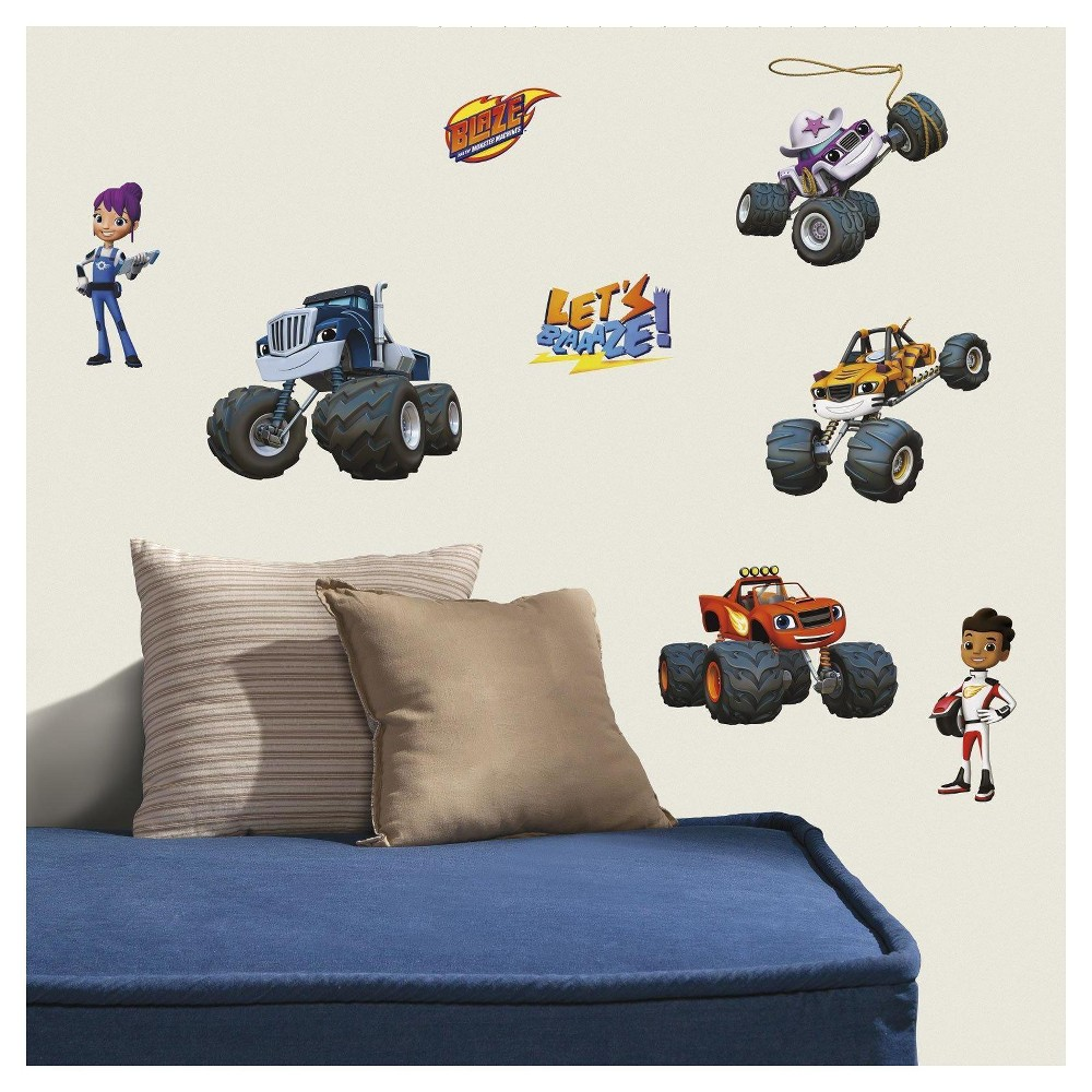 Image of Blaze And the Monster Machines Wall Decals, Multi-Colored