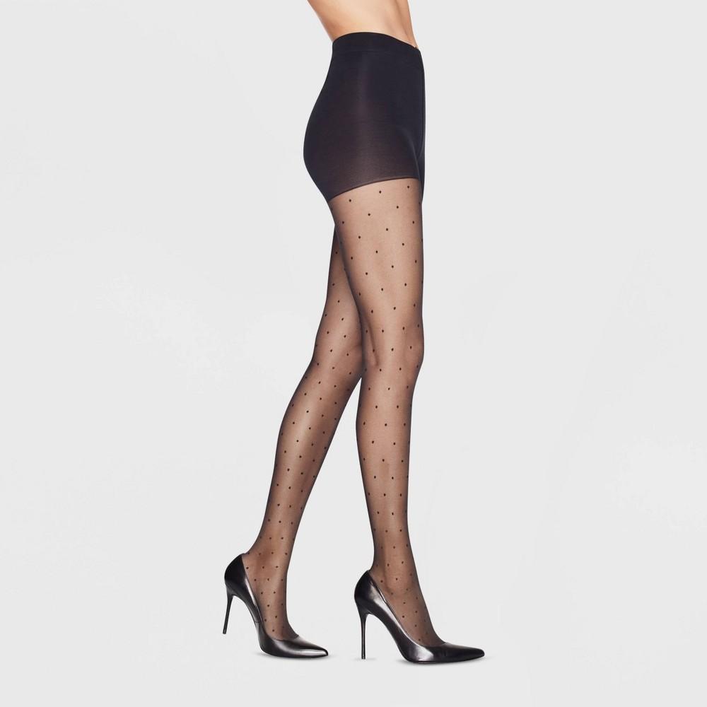 Hanes Premium Women 39 S Pindot Perfect Tights Black M