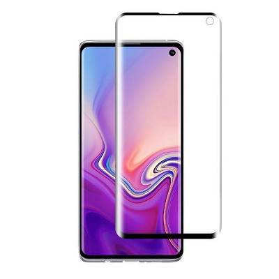 Valor Full Coverage Tempered Glass LCD Screen Protector Film Cover For Samsung Galaxy S10, Black