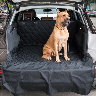 SUV Pet Cargo Liner Trunk Cover Waterproof Non-Slip Washable Material, Extra Long Size Universal Fit with Bumper Flap 80 x 52 Protect Prevents Scratches Marks & Spills