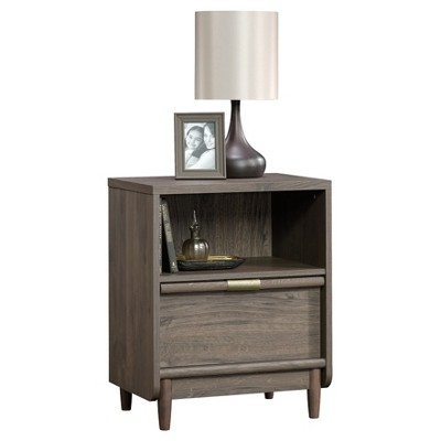 International Lux Nightstand with Open Drawer and Open Shelf - Fossil Oak - Sauder