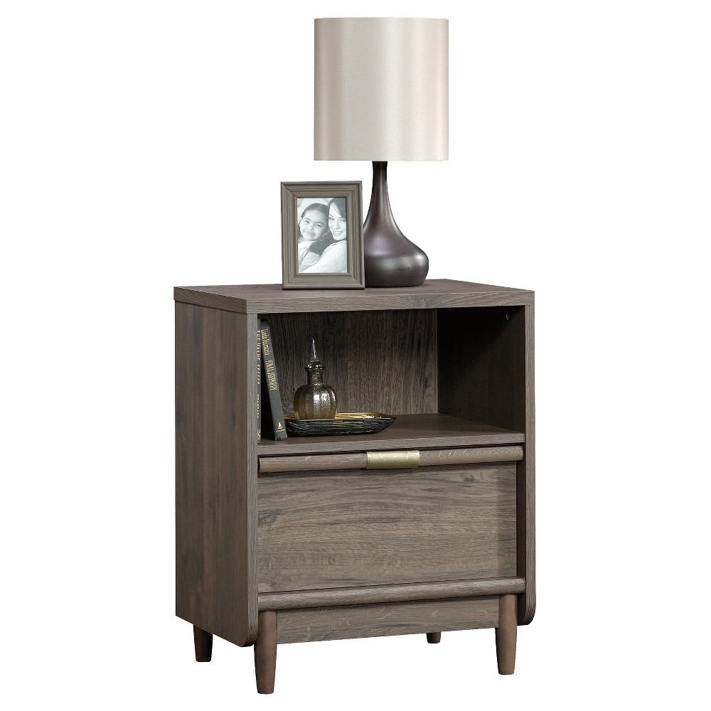 Best Sale International Lux Nightstand With Open Drawer And Open Shelf Fossil Oak Sauder