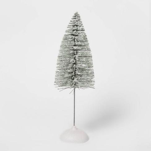 Large Flocked Bottle Brush Tree Decorative Figurine - Wondershop™ - image 1 of 4