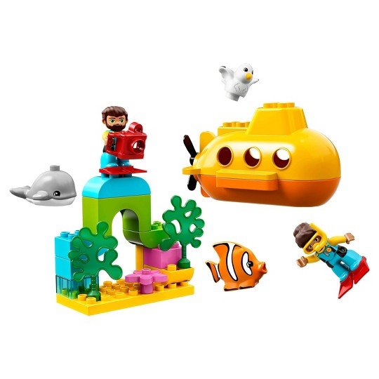 LEGO DUPLO Submarine Adventure 10910 Bath Toy Building Set for Toddlers with Toy Submarine 24pc image number null