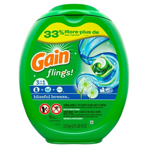 Gain Flings! Laundry Detergent Pacs - Blissful Breeze - image 1 of 3