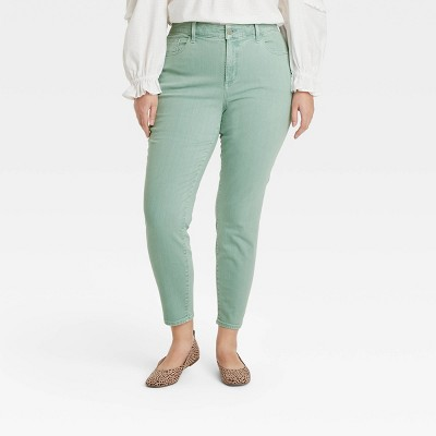 Women's Mid-Rise Skinny Stretch Ankle Jeans - Universal Thread™ Green