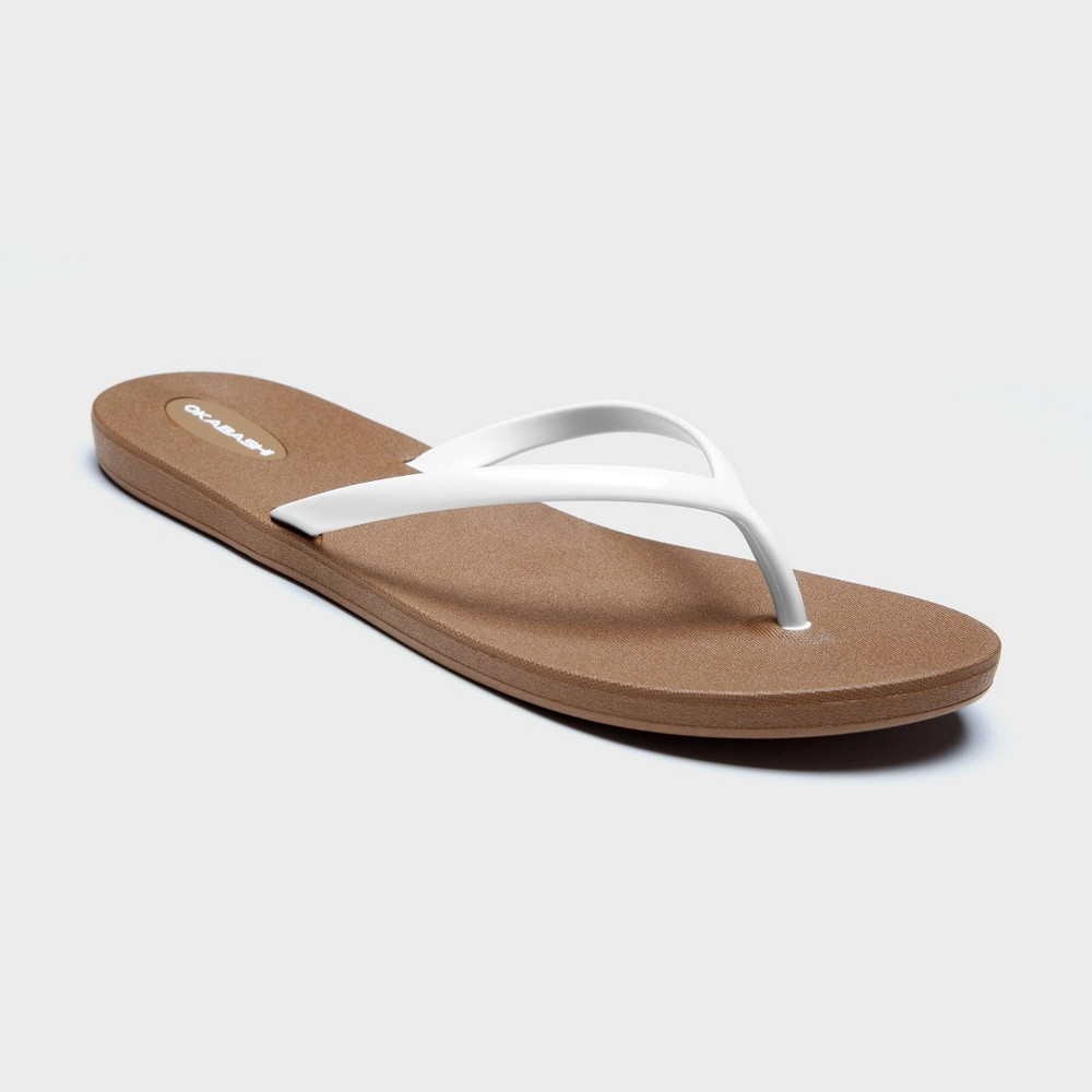 Women's Shoreline Flip Flop Sandals - Okabashi White 8