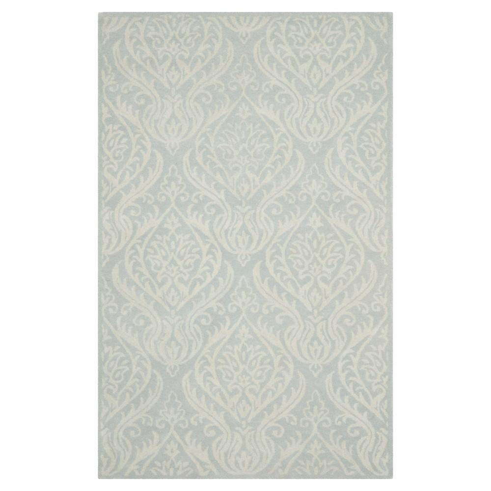 Bella Rug - Silver/Ivory - (5'X8') - Safavieh