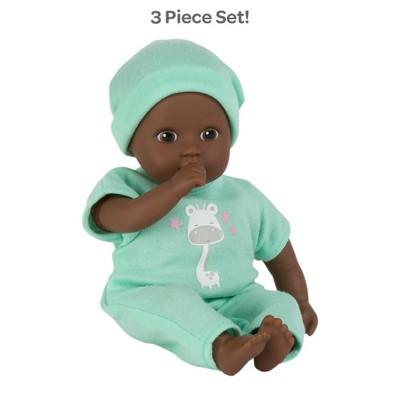 Adora Soft Baby Doll Boy Baby Tot Gentle Giraffe 8.5 inch Mini Vinyl Doll, Cuddly Weighted Body, Brown Eyes