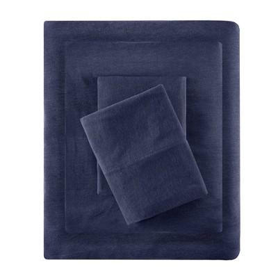 King Cotton Blend Jersey Knit All Season Sheet Set Navy