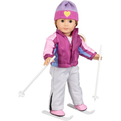 Dress Along Dolly Skiing Winter Outfit for American Girl Doll