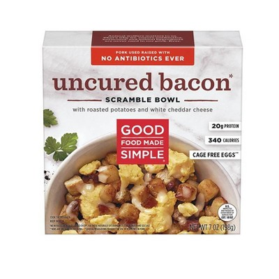 Good Food Made Simple Uncured Bacon & Eggs Scramble Bowl - 7oz