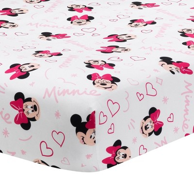 Lambs & Ivy Minnie Mouse Love Fitted Crib Sheet