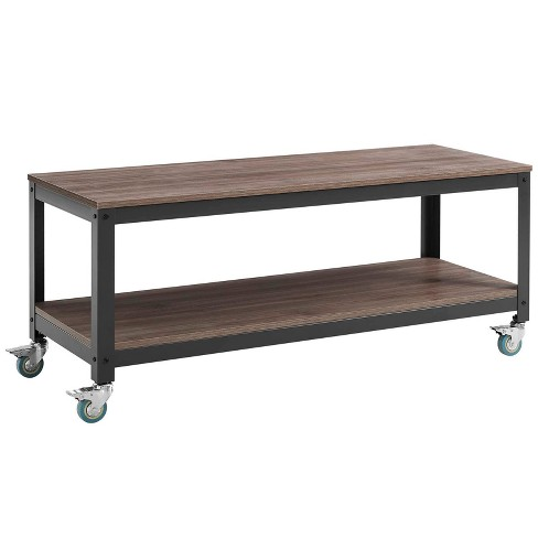 Vivify Tiered Serving or TV Stand Gray Walnut - Modway - image 1 of 5