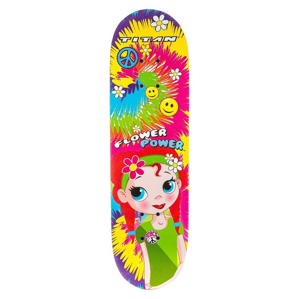 Titan 9262 Flower Power Princess Complete 28 Girls' Skateboard, Blue