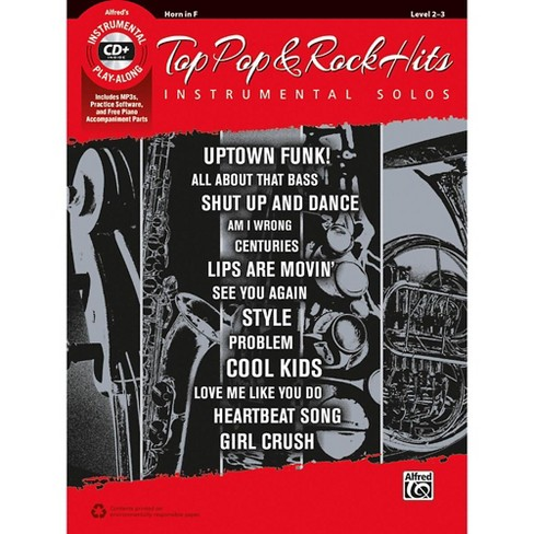 Alfred Top Pop & Rock Hits Instrumental Solos Horn in F Book & CD - image 1 of 1
