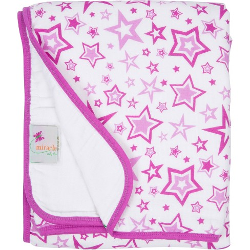 MiracleWare Muslin Baby Blanket Stars Orchid - image 1 of 1