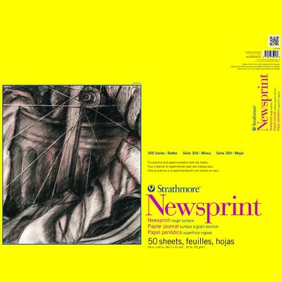 Strathmore 300 Series Newsprint Pad, 18 x 24 Inches, 32 lb, 50 Sheets