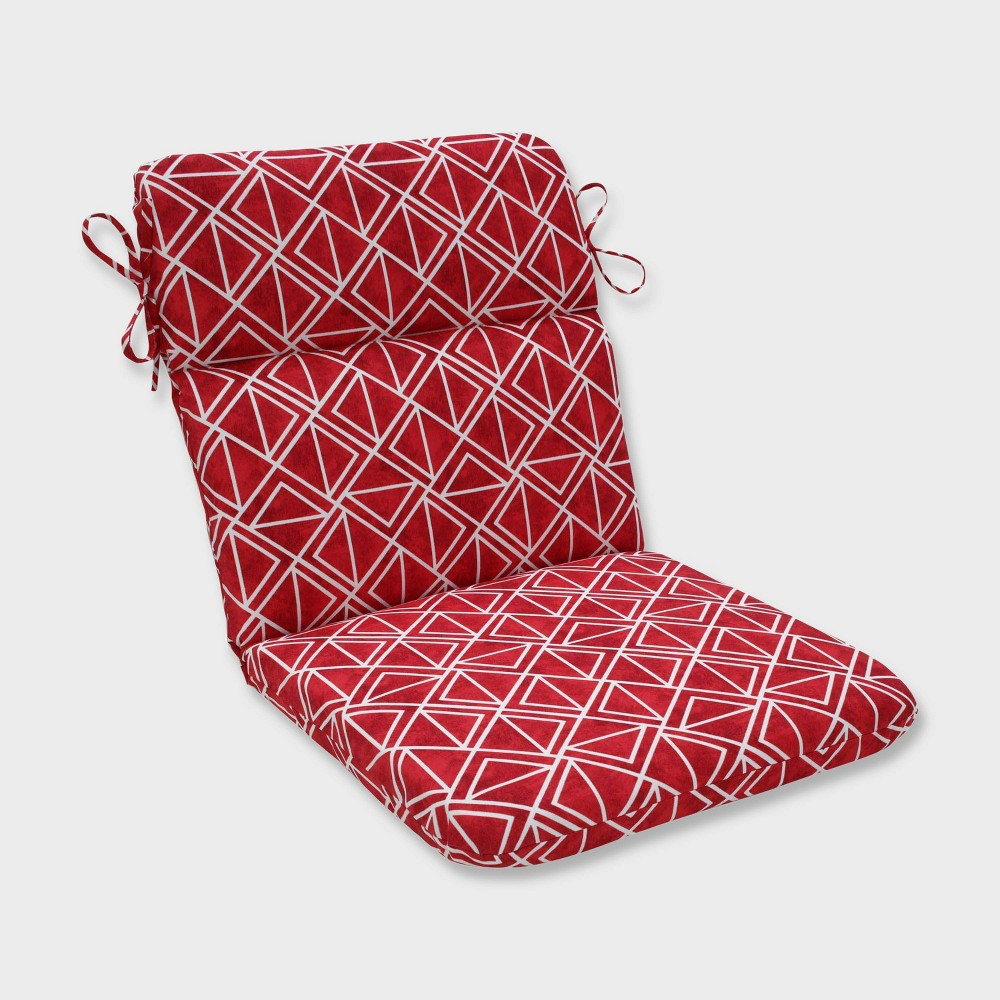 Lanova Apple Rounded Corners Outdoor Chair Cushion Red - Pillow Perfect