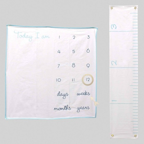 2pc Milestone Blanket & Growth Chart Blue - Bullseye's Playground™ - image 1 of 1