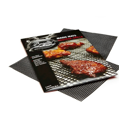 Non-Stick Silicone Set of 4 Bakin Mat - Red - Bradley Smoker - image 1 of 3