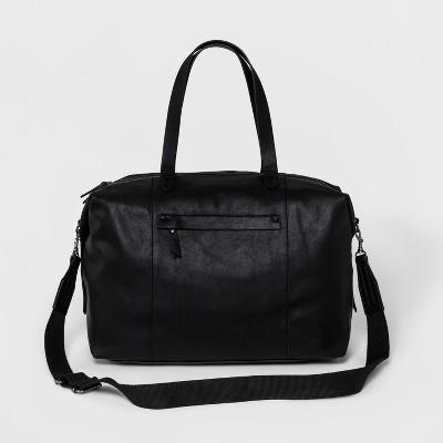 Faux Leather Next Weekender Bag - Universal Thread™ Black