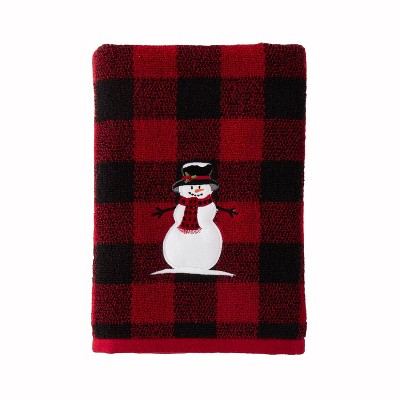 Woodland Winter Bath Towel Red - SKL Home