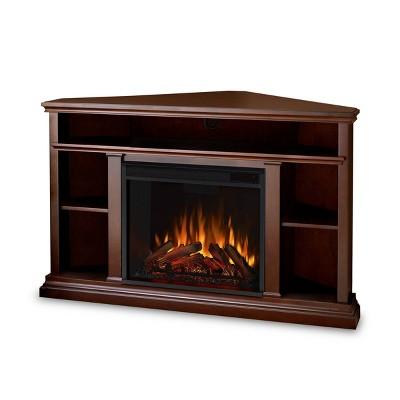 Real Flame Churchill Corner Electric TV Fireplace Dark Espresso