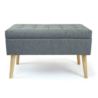 Brooklyn Storage Ottoman Bench Gray - Humble Crew