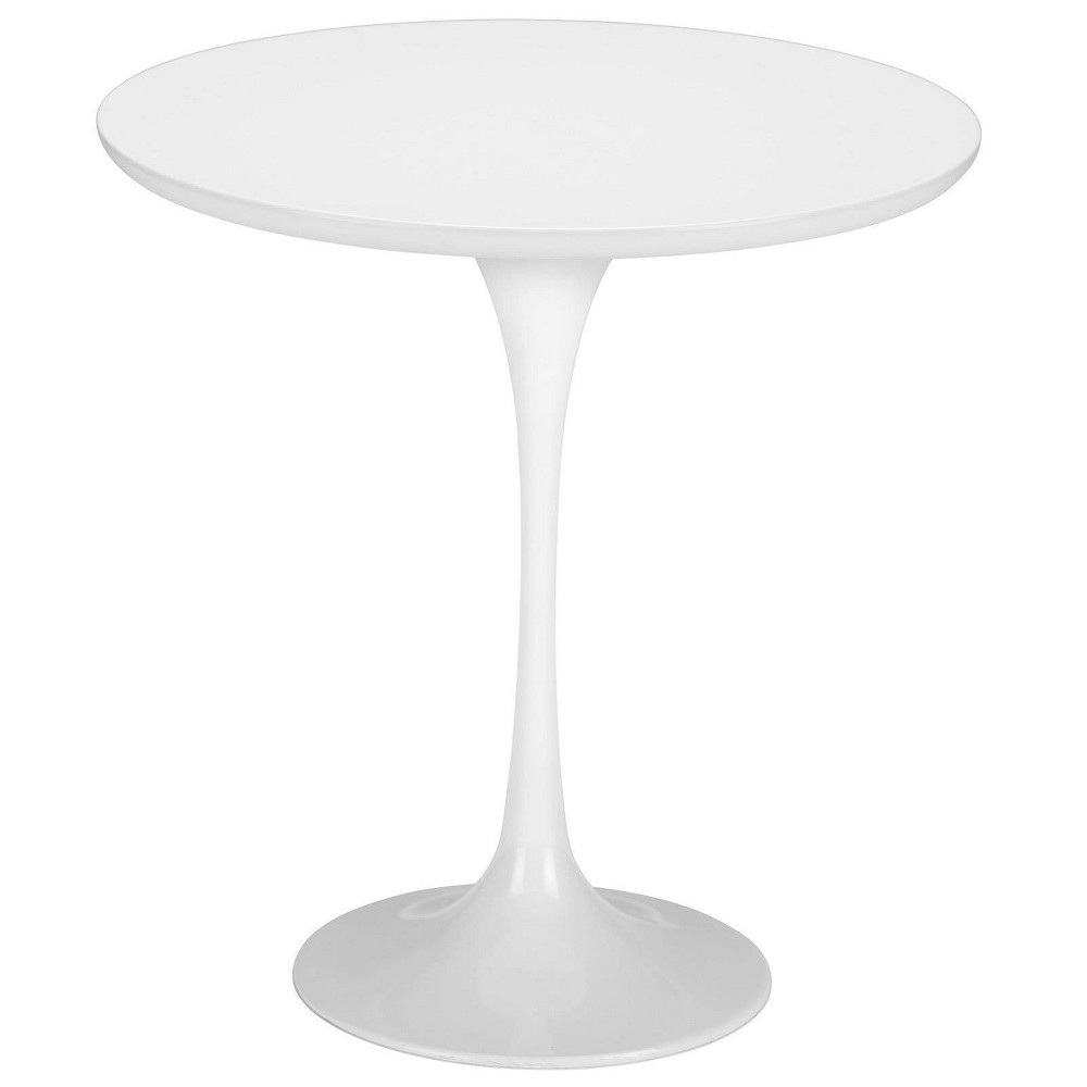 "Image of ""20"""" Grant Contemporary Wood Top Side Table Base White - Poly & Bark"""