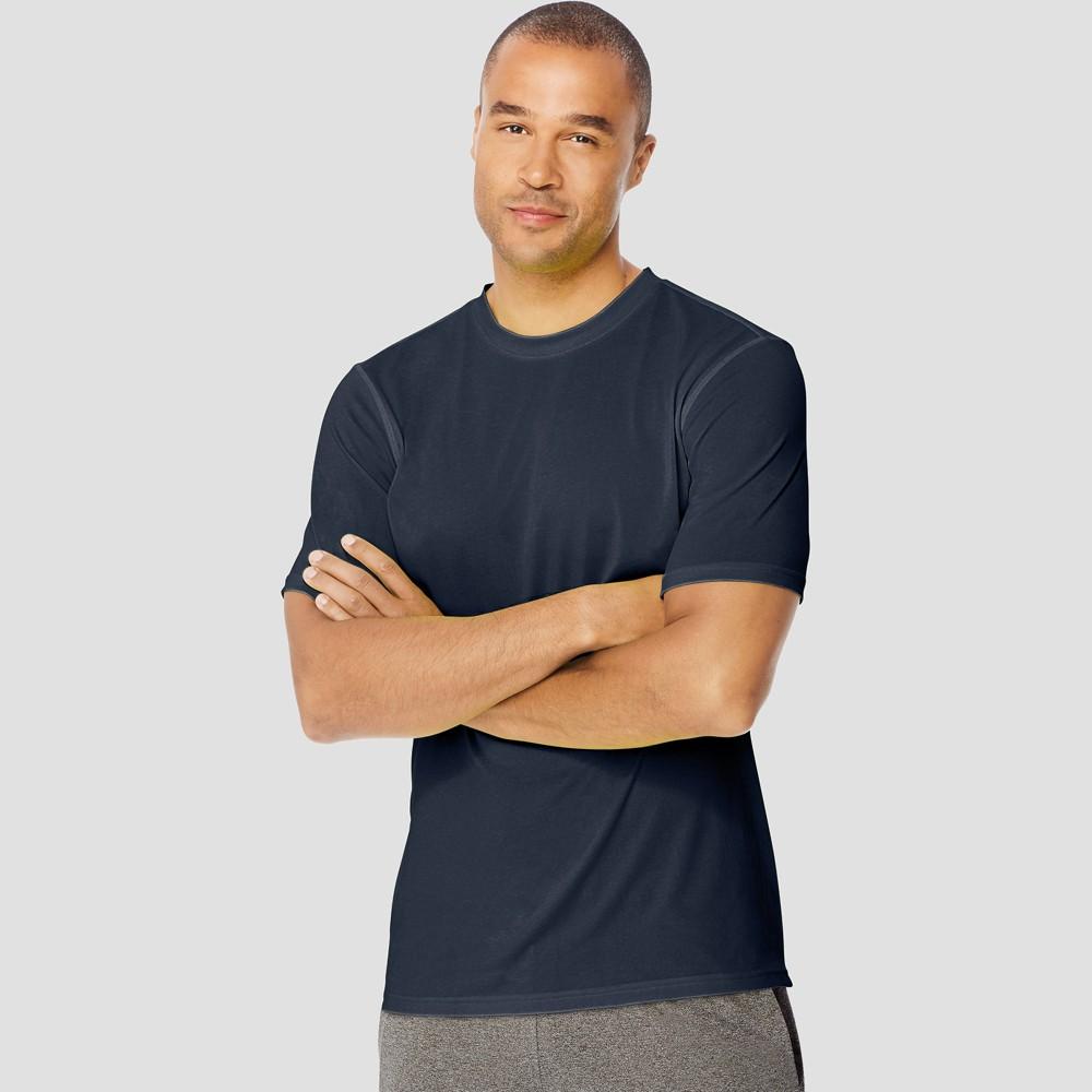 Hanes Sport Mens Endurance Short Sleeve T-Shirt - Navy M Blue Reviews
